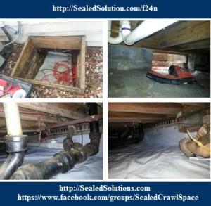 Crawl Space Encapsulation crawl drain f24n Retro