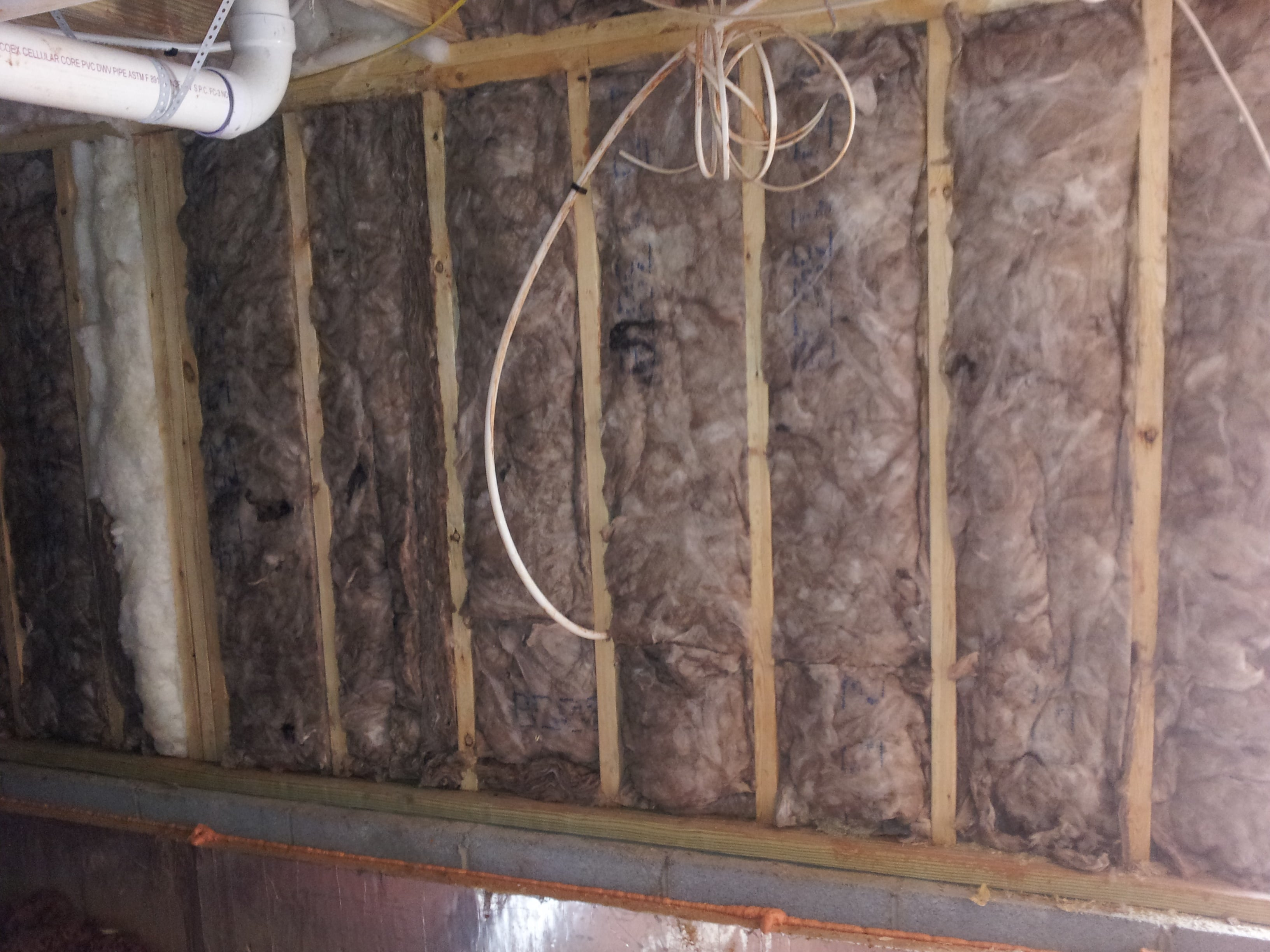 Wall Insulation Wiring Trusted Diagrams Basement Walls Home Old