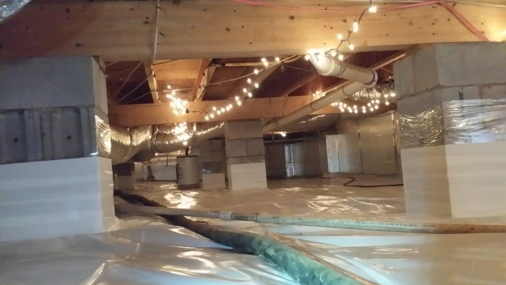 crawl space solutions, crawl space encapsulation raleigh