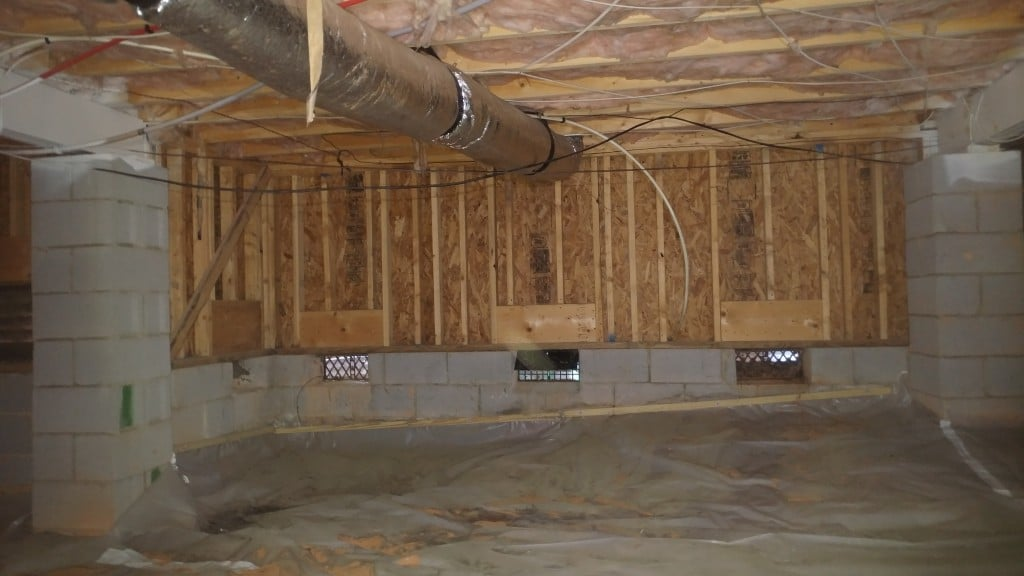 pony wall, crawl space solutions, insulating pony walls, radiant barrier pony walls