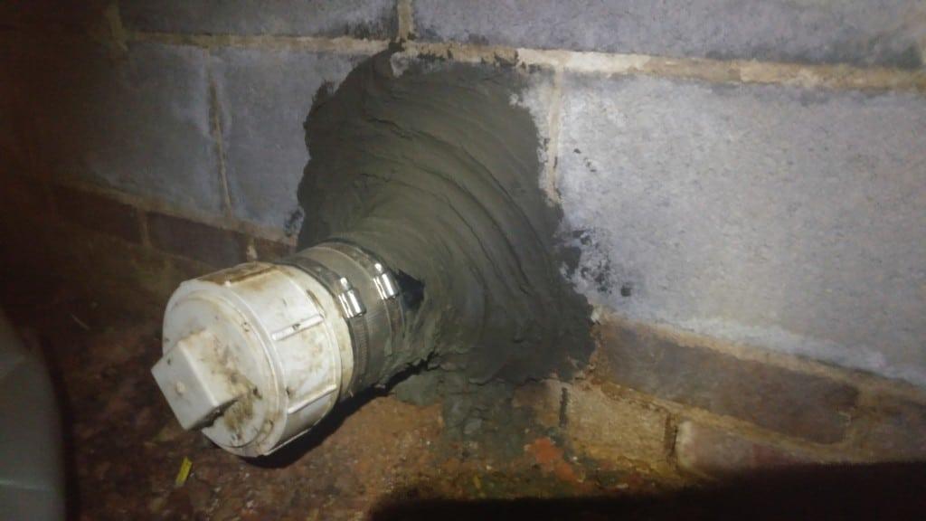 w grade pipe water seal, water seal below grade pipe, water seal below ground pipe