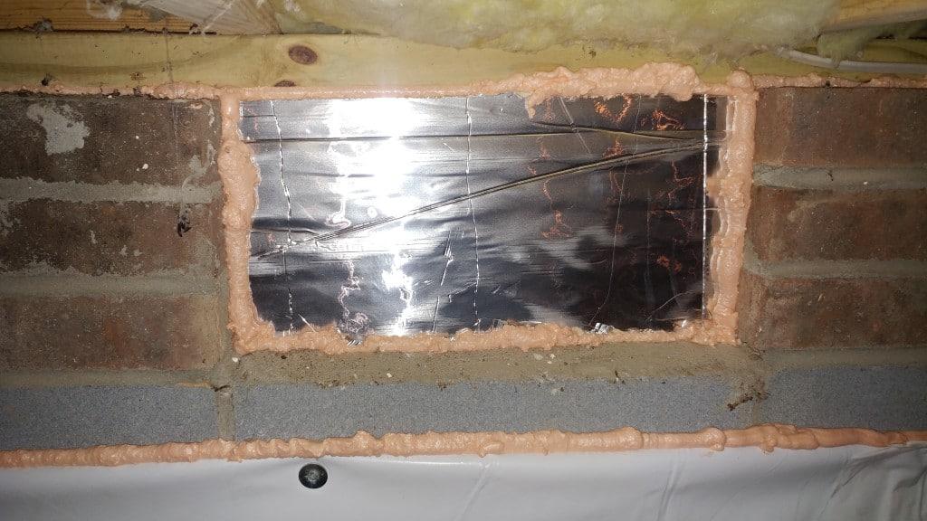 Foundation vents, sealed foundation vents, closed foundation vents, crawl space solutions